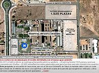 Los coches no circularán por el recinto del Infanta con el nuevo aparcamiento. El Perpetuo Socorro ampliará el estacionamiento a 720 plazas