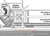 El proyecto partiría desde la rotonda en la que la Ronda Norte se cruza con la circunvalación alrededor de La Alcazaba. Junto a esa rotonda, iría ubicado el nuevo auditorio con vistas a la zona monumental donde se podrían celebrar conciertos y repre