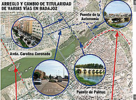 La Junta reparará todas sus calles y comenzará por Adolfo Díaz Ambrona. Las obras comenzarán en 2010 y la avenida será transferida a la ciudad. Acuerdo entre las administraciones para todas las vías y los puentes.