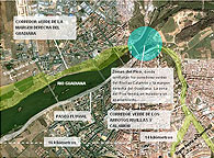 El parque fluvial de la margen derecha empieza a construirse en septiembre. El nuevo paseo del Guadiana conectar&aacute; con el corredor verde de los arroyos Rivillas y Calam&oacute;n en la zona de El Pico, a los pies de la Alcazaba.La CHG adjudicar&aacute; el proyecto