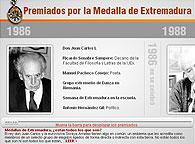 No están todos los que son ni son todos los que están, pero los 113 miembros galardonados con la Medalla de Extremadura, hasta ahora, han sido escogidos dentro del ámbito de su actividad, ejercida dentro o fuera de la región, «por sus méritos o por